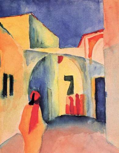 August Macke - Look in a lane