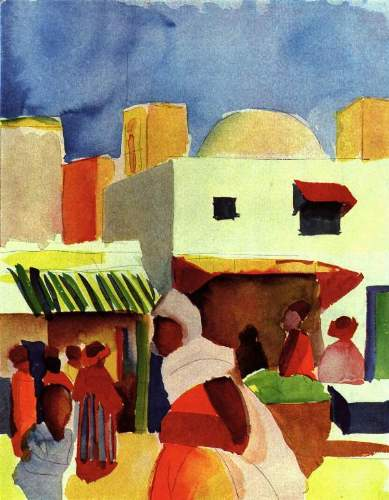 August Macke - Market in Algier