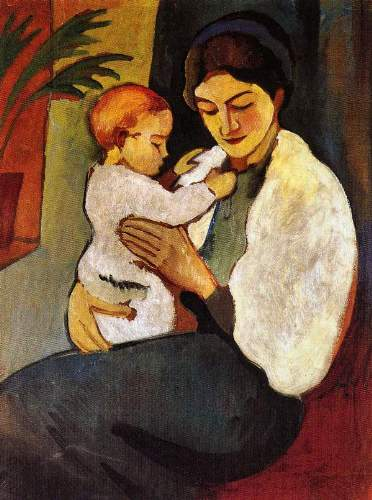 August Macke - Mother and Child
