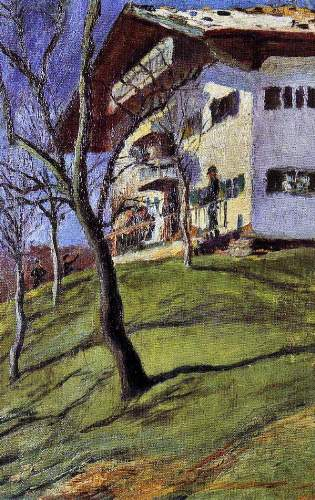 August Macke - Our house in Tegern Sea