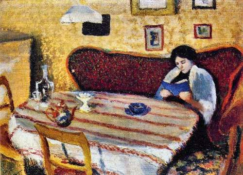 August Macke - Our living room in Tegernsee