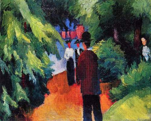 August Macke - Park on the waterfront