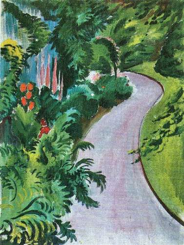 August Macke - Path in the garden