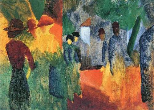 August Macke - People in the park