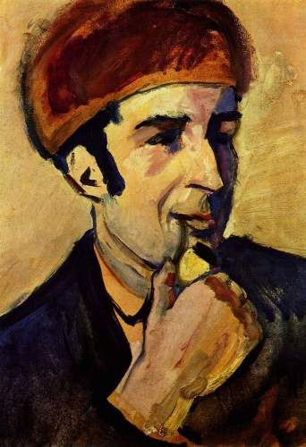 August Macke - Portrait of Franz Marc