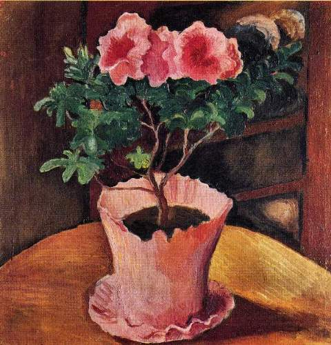 August Macke - Rose Azaleas