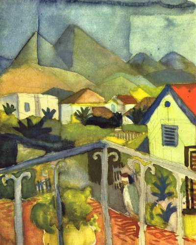 August Macke - St. Germain at Tunis