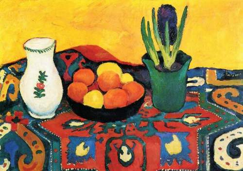 August Macke - Still Life with Hyacinthe