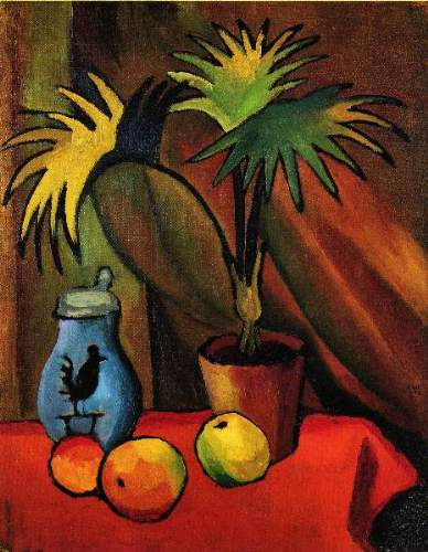 August Macke - Still Life with Palms
