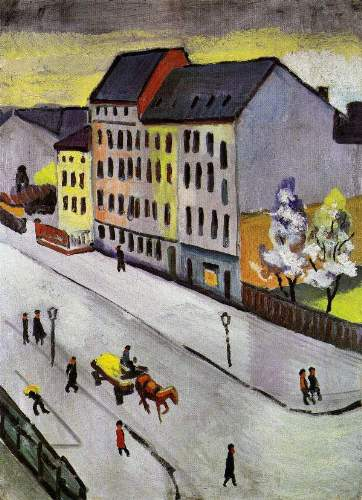 August Macke - Street in Gray