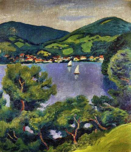 August Macke - Tegern Sea landscape