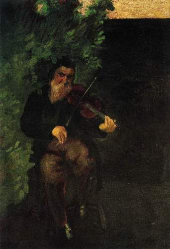 August Macke - The old violinist