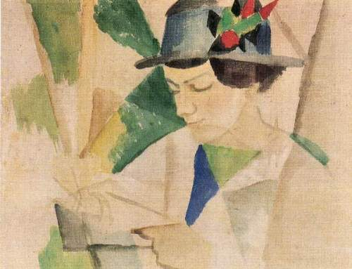 August Macke - The wife of the painter, reading
