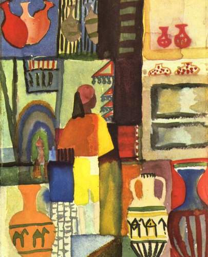 August Macke - Traders with jugs