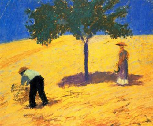 August Macke - Tree in Cornfeld