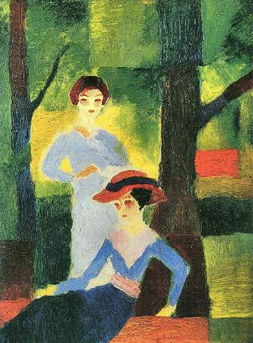 August Macke - Two girls in the forest