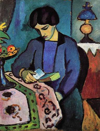 August Macke - Wife of the artist
