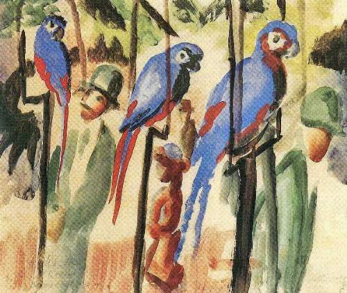 August Macke - With the Parrots I