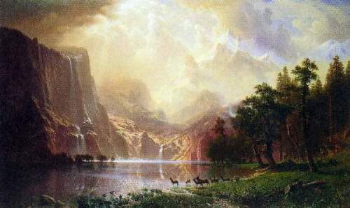 Bierstadt - Between the Sierra Nevada Mountains