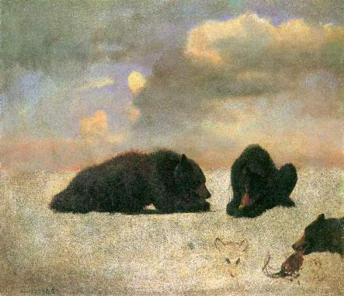 Bierstadt - Grizzly Bears