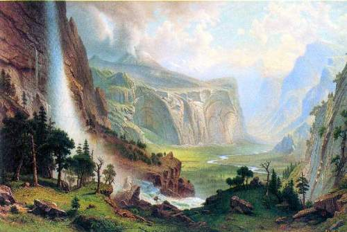 Bierstadt - Half Dome in Yosemite