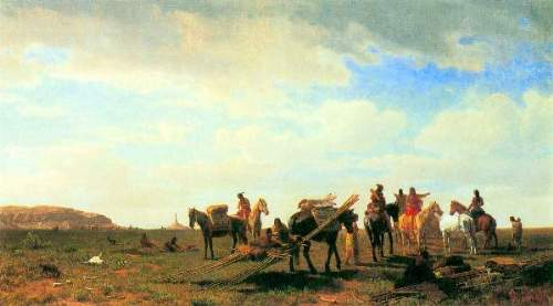 Bierstadt - Indians near Fort Laramie