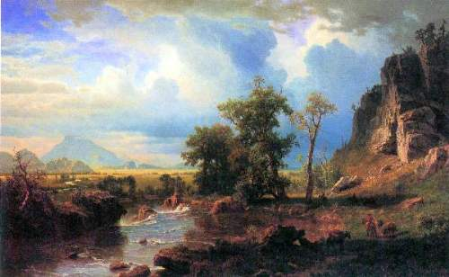 Bierstadt - Northern fork of the Plate, Nebraska