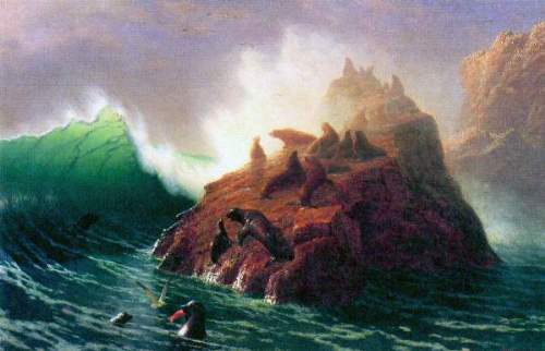Bierstadt - Seal Rock, California