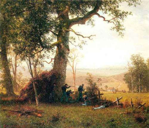 Bierstadt - Small war, postal service strike in Virginia