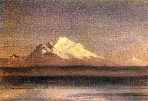 Bierstadt - Snowy Mountains in the Pacific Northwest 2