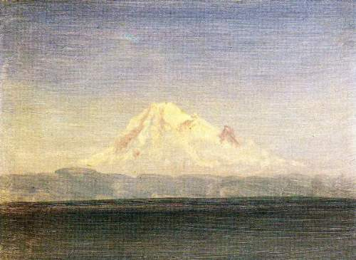 Bierstadt - Snowy Mountains in the Pacific Northwest