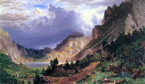 Bierstadt - Storm in the Rockies, Mt. Rosalie