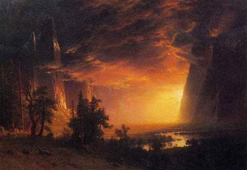 Bierstadt - Sunrise in Yosemite Valley