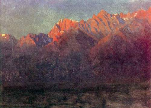 Bierstadt - Sunrise in the Sierras