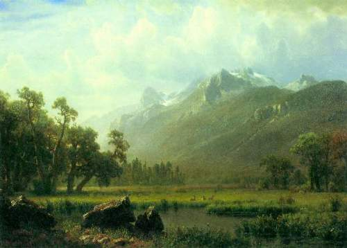 Bierstadt - The Sierra near Lake Tahoe, California