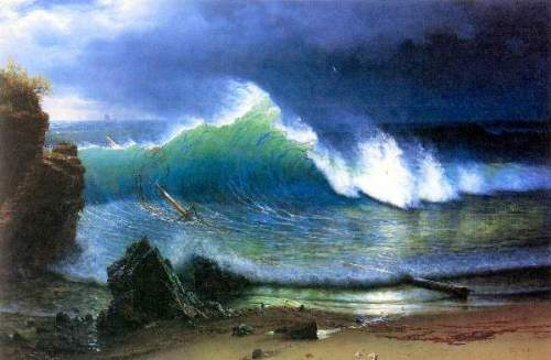 Bierstadt - The coast of the Turquoise sea
