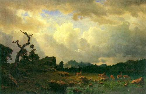 Bierstadt - Thunderstorms in the Rocky Mountains
