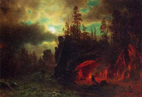 Bierstadt - Trapper's camp