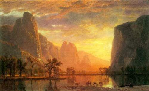 Bierstadt - Valley in Yosemite