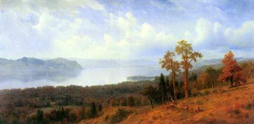 Bierstadt - View of the Hudson River Vally