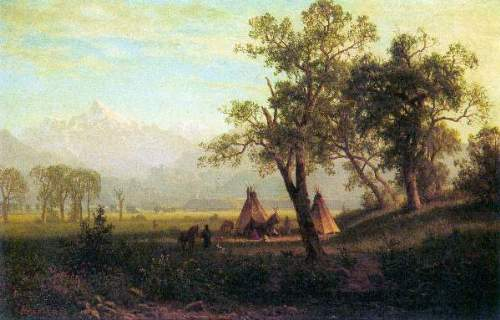 Bierstadt - Wind River Mountains in Nebraska