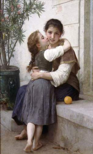 Bouguereau - A Little Coaxing 1890