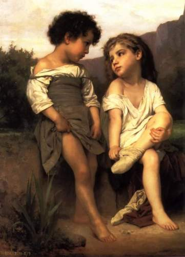 Bouguereau - At the Edge of the Brook