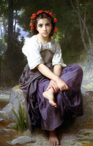 Bouguereau - At the Edge of the Brook2
