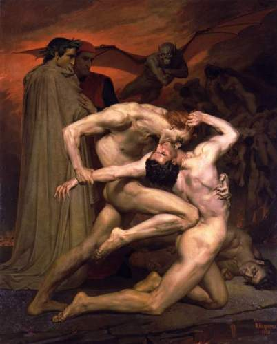 Bouguereau - Dante And Virgil In Hell