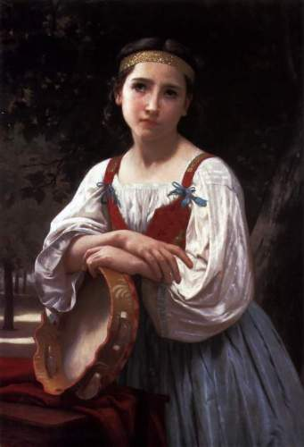 Bouguereau - Gypsy Girl with a Basque Drum