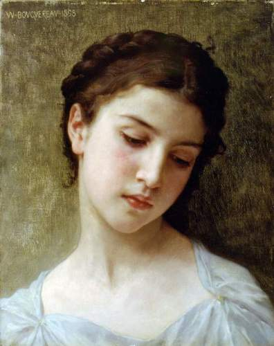 Bouguereau - Head Of A Young Girl 1898