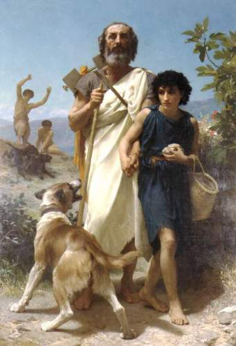 Bouguereau - Homer and his Guide 1874