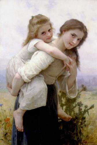 Bouguereau - Not Too Much To Carry