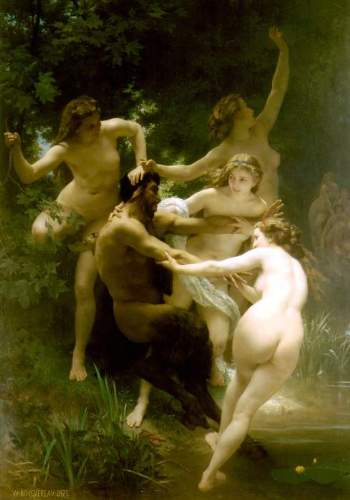 Bouguereau - Nymphs and Satyr
